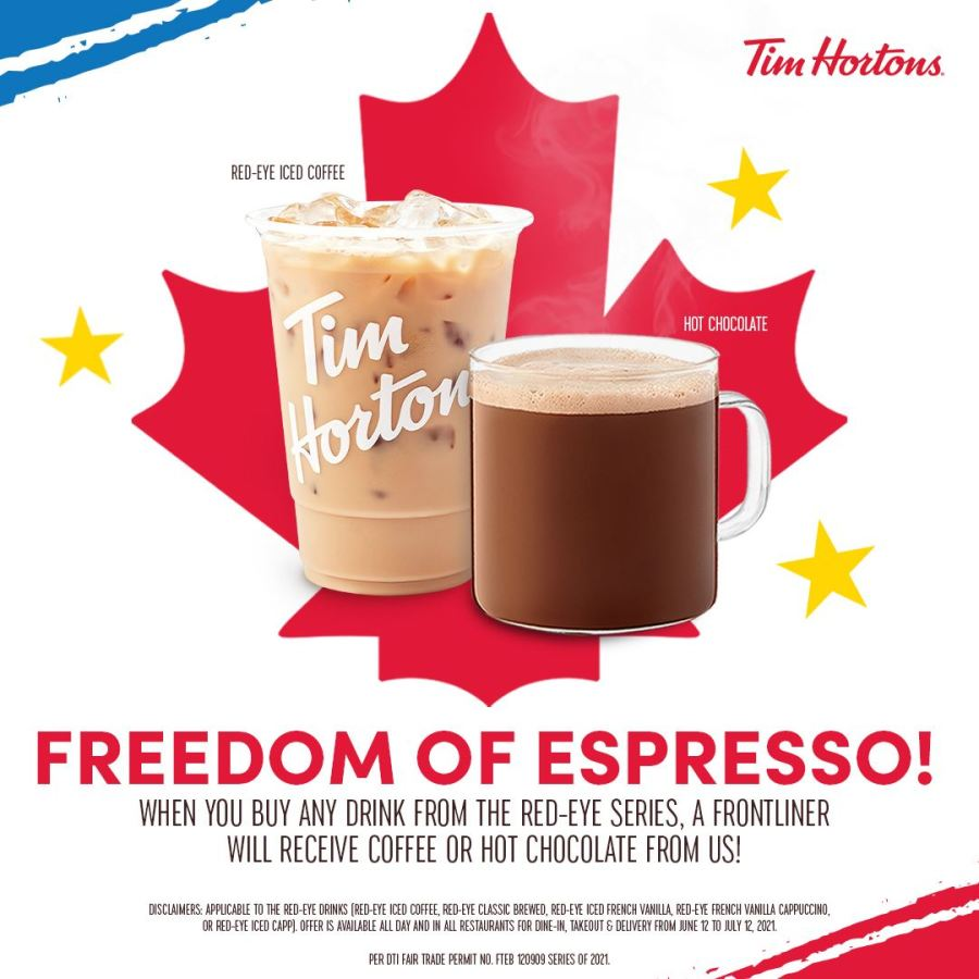 Tim Hortons Independence Day Promo 2021