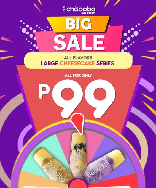 Chaboba Cheesecake Promo for only 99 pesos