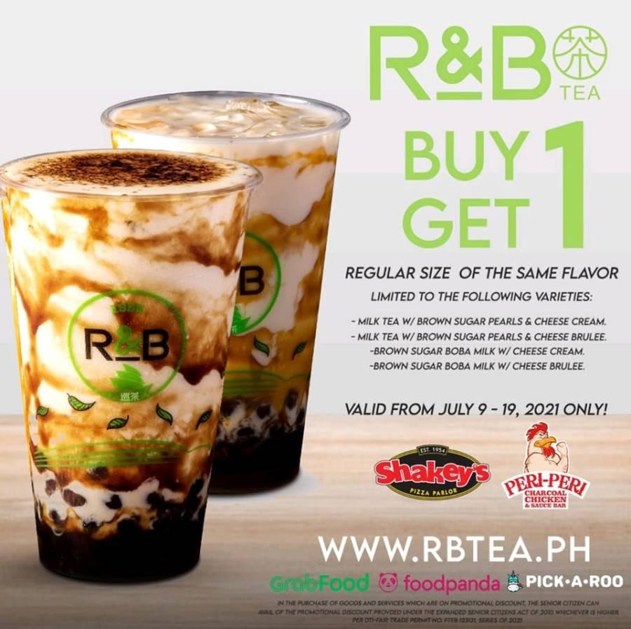 R&B Tea Philippines Buy 1 Get 1 Promo