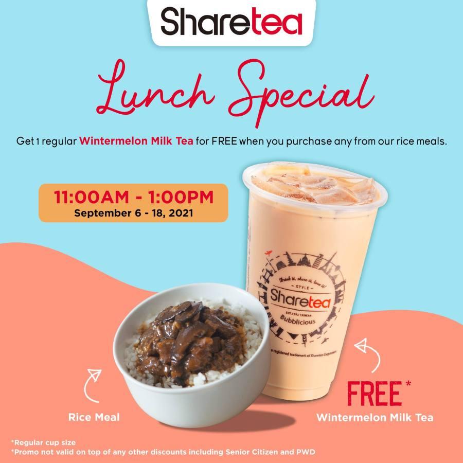 Sharetea Promo Philippines Lunch Special
