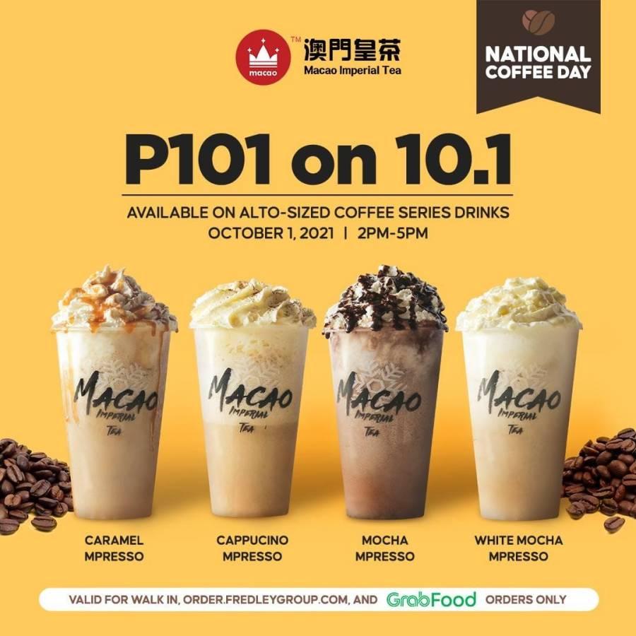 Macao Imperial Tea October 2021 Promo