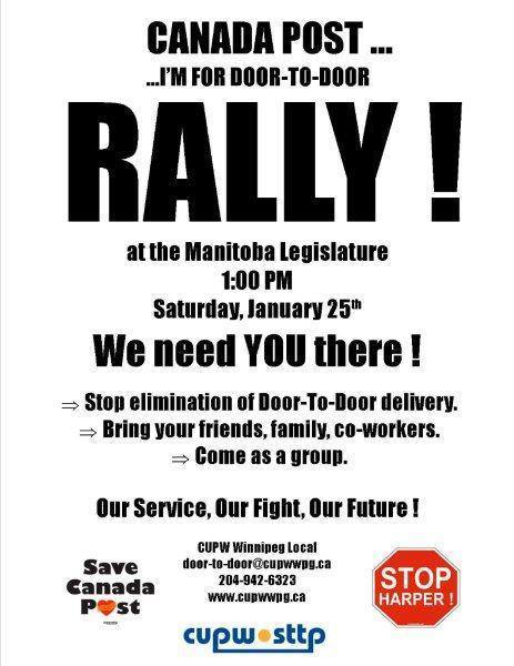 CUPE Local 500 :: Action Alert! Rally in support of door