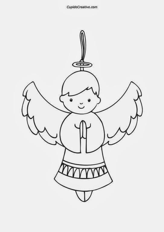 Kerajinan Anak  Mewarnai Malaikat Natal  cupidocreativeblog