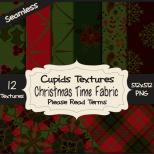 12 CHRISTMAS TIME FABRIC