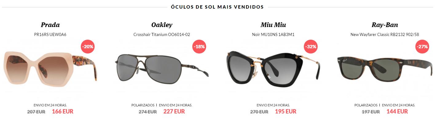 oculos marca mais vendidos