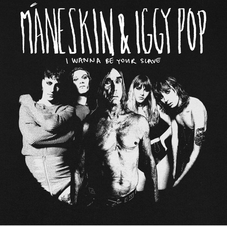"""Maneskin con Iggy Pop insieme per una nuova versione di """"I Wanna be your slave"""""""