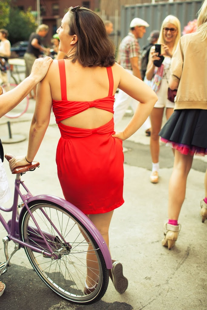 Riding bikes while wearing skirts  A Cup of Jo