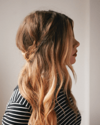 Half-Up Braided Crown | A Cup of Jo