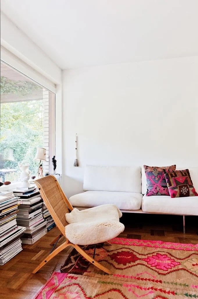 Home Inspiration Pink and Red Rugs  A Cup of Jo