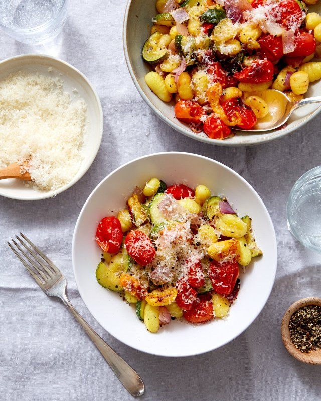 Geroosterde Gnocchi Met Tomaten En Squash