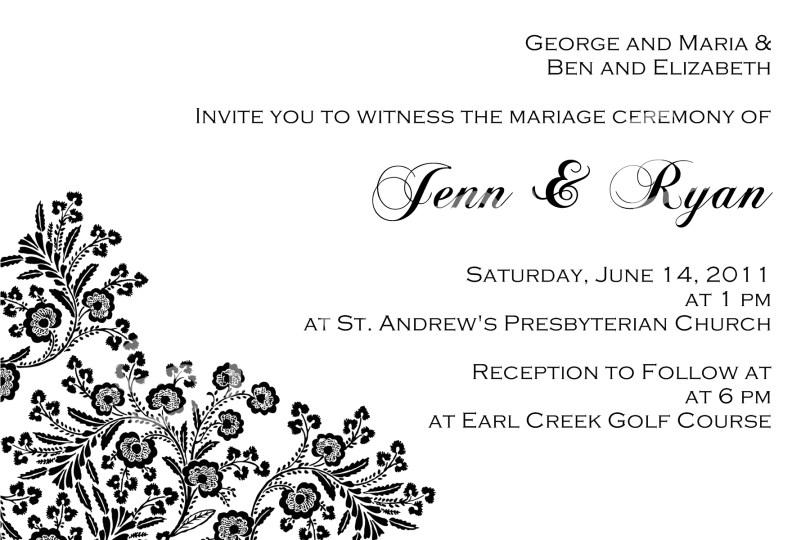 wedding invitations landscape