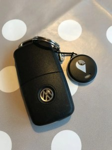 TrackR attached to my car key