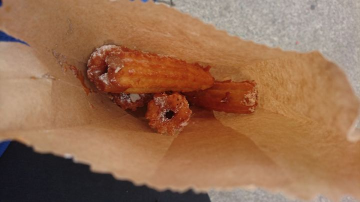 churros de manzana in castro chiloe island chile where to eat