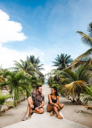 travel couple in Placencia Belize which country to visit in Latin America