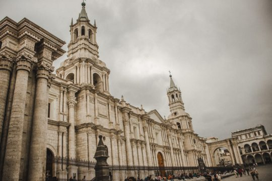 arequipa peru cathedral catholic christianity buildings history lovers historical cities south america latin america beautiful colonial