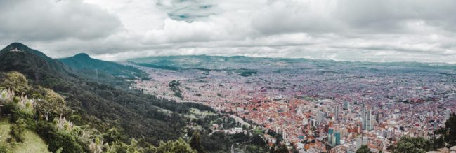 Bogotá panoramic view Monserrate mountaintop tram cable car teleferico hike guide Colombia tips