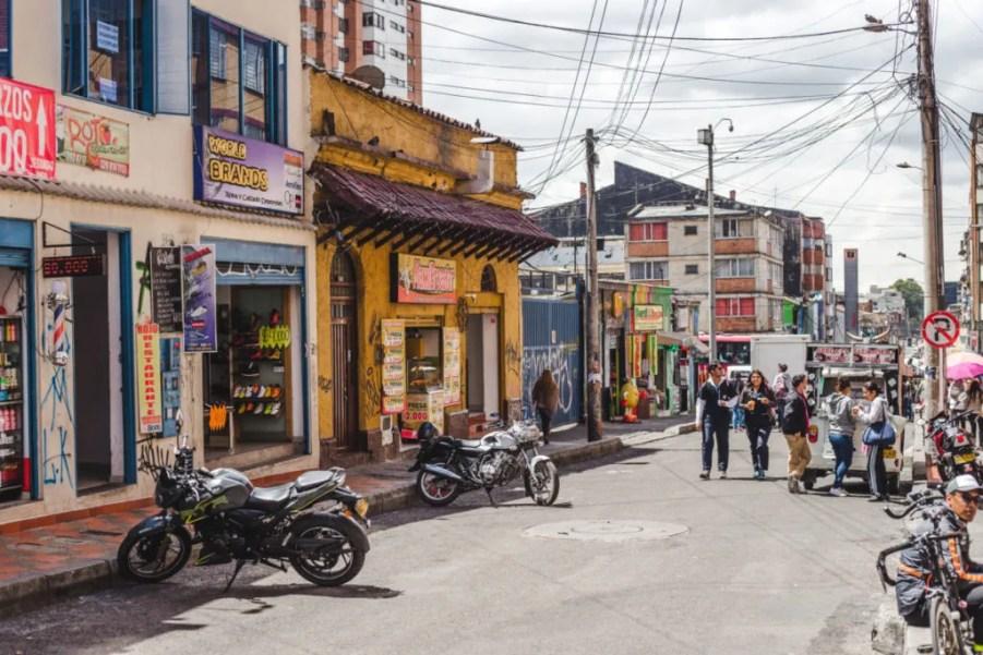 street of chapinero bogota neighbourhoods | where to stay in bogota colombia