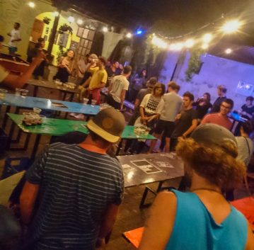The best bars in Antigua, Guatemala   Nightlife Antigua   Big Foot Hostel Beer Pong Tournament Thursday   Latin America travel guides by Cuppa to Copa Travels