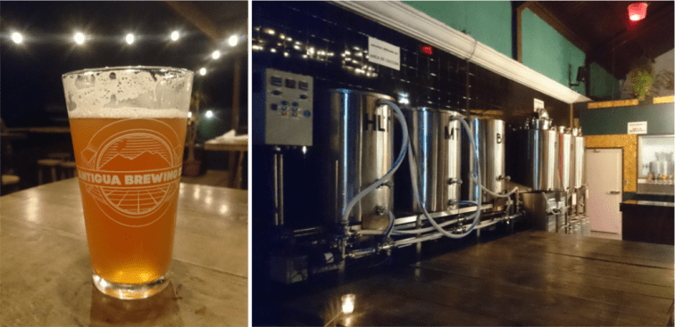 The best bars in Antigua, Guatemala   Nightlife Antigua   Craft beer Antigua Brewing Company bar   Latin America travel guides by Cuppa to Copa Travels