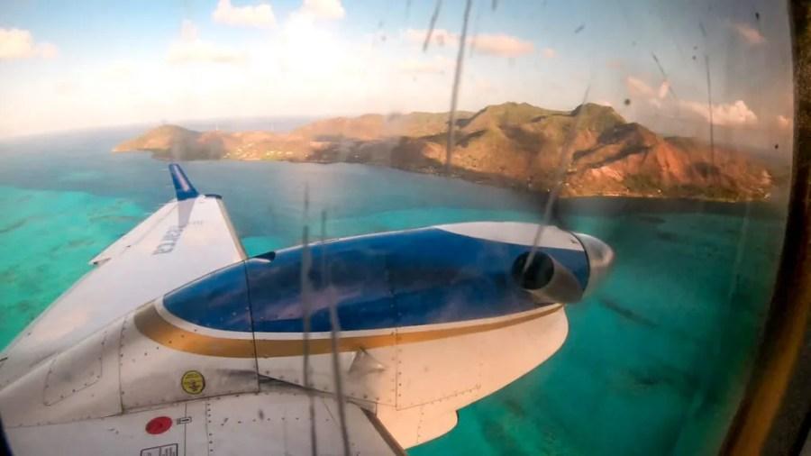 Propeller Plane San Andres to Providencia Searca Satena | Isla de Providencia Providence Island | Colombia travel guide by Cuppa to Copa Travels