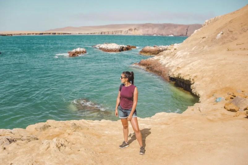 Paracas national reserve on bikes desert in Peru travel guide playa lagunillas beach