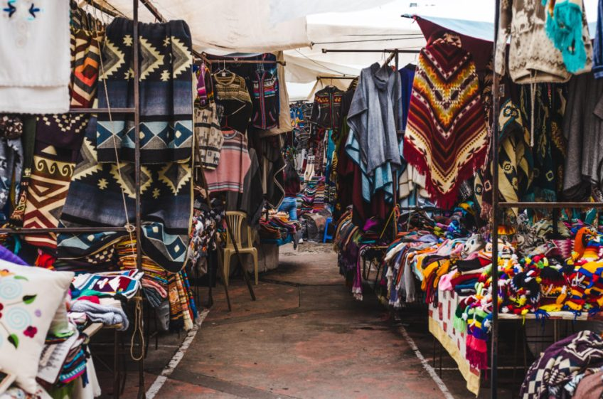 Guide to Otavalo Market Ecuador Quito day trips - biggest textile otavalo market in indigenous town at 2500m otavalo ecuador elevation near peguche waterfall