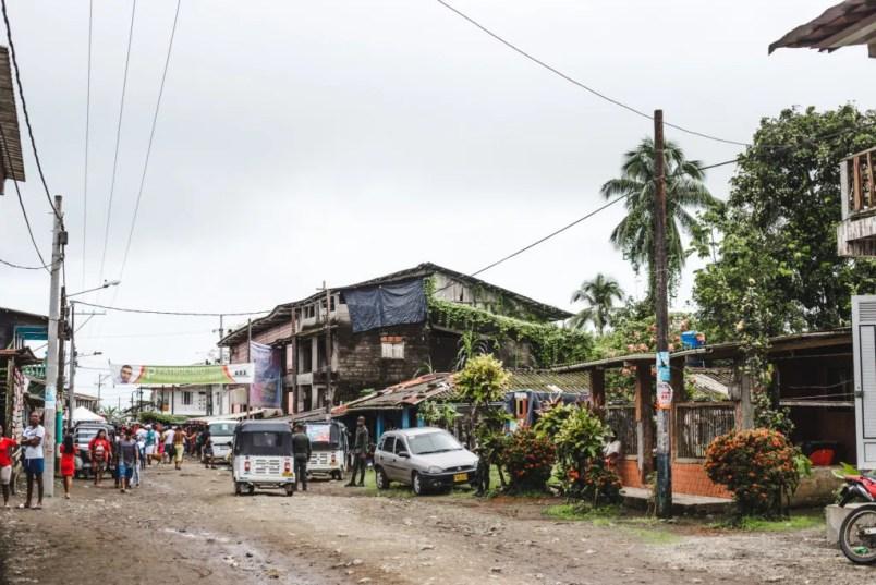 how to get to bahia solano airport choco colombia tuktuk
