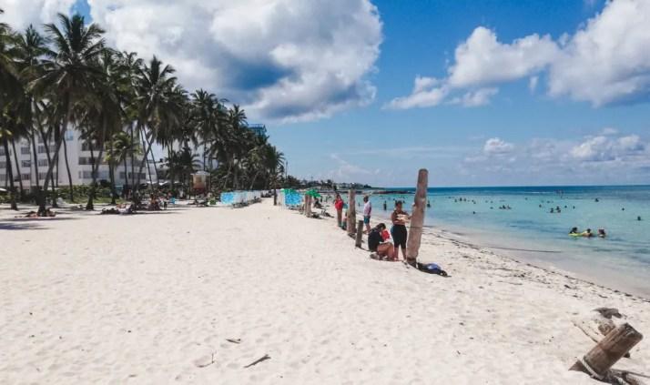 renting a buggy on san andres Spratt bight main beach San Andres Colombia paradise caribbean island