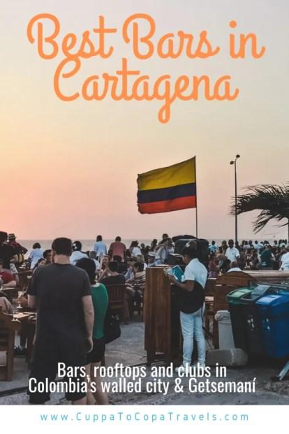 best bars in Cartagena sunset cafe de mar