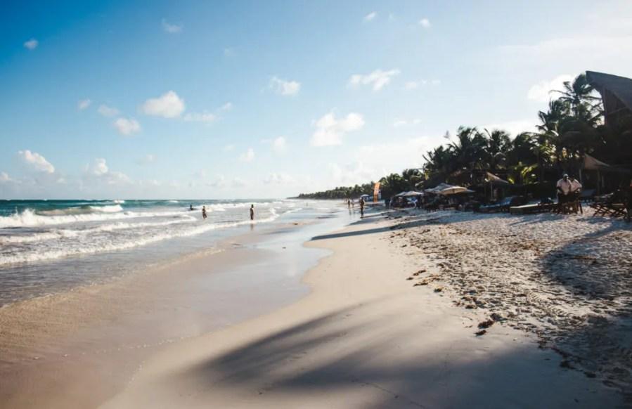 tulum beaches Mexico zona hotelera hotel zone tulum