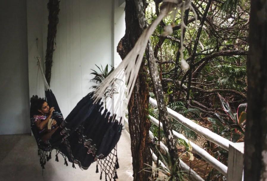 Where to stay in Tulum zona hotelera Tulum hotel zone Casa Ambar boutique mangroves jungle balcony