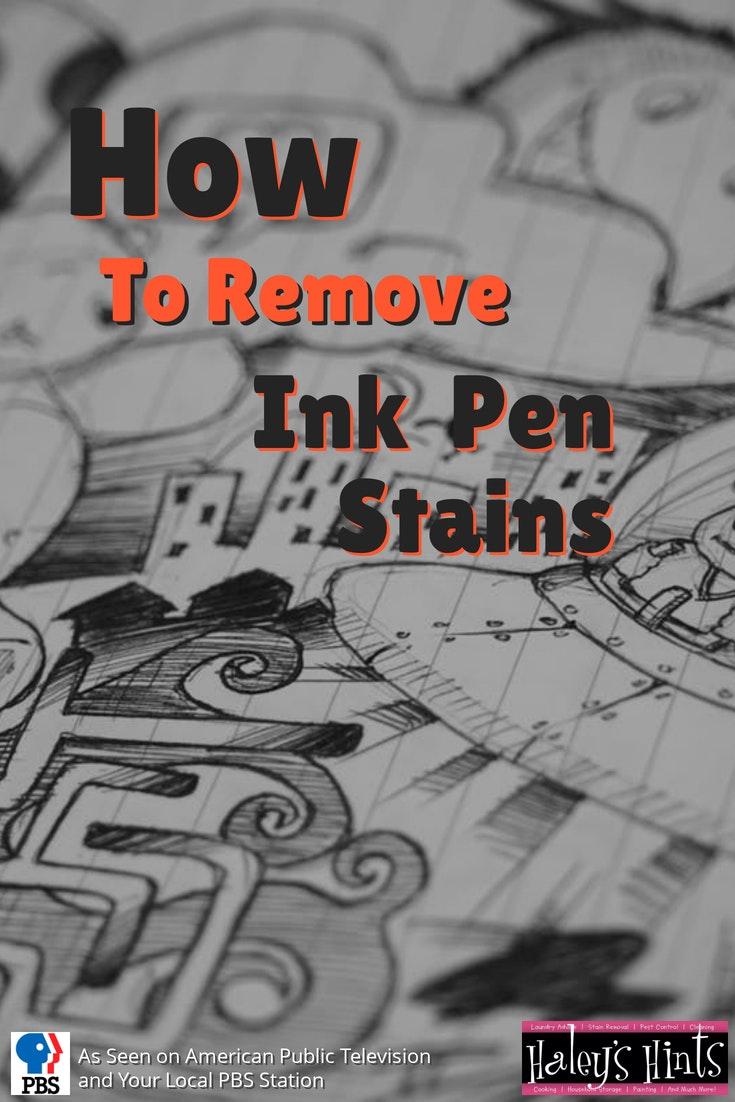 ink pen stain splash