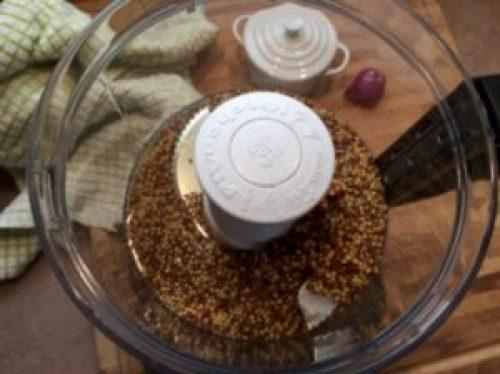 mustard seeds in food processor