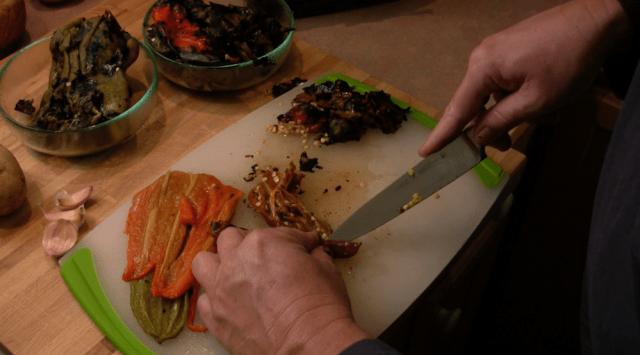 seeding roasted chili