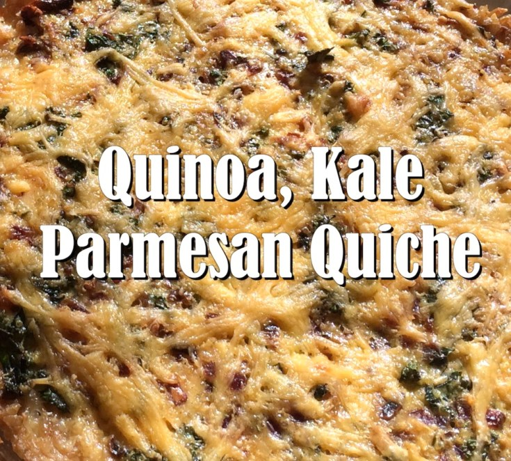 Savory Quinoa, Kale and Parmesan Quiche with Brown Rice Crust