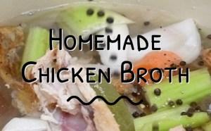 Homemade Chicken Broth 1
