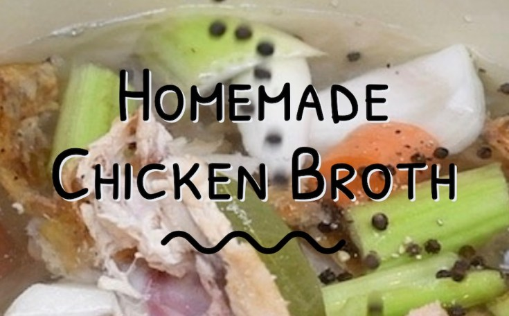 Organic homemade chicken broth is a mineral-rich infusion made by boiling bones with veggies, herbs and spices. It's inexpensive to make and good food for you!