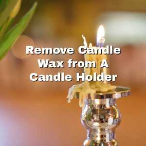 wax on brass candle holder