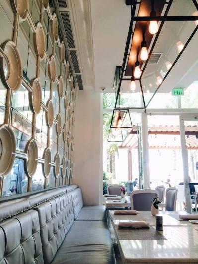 Chic modern restaurant