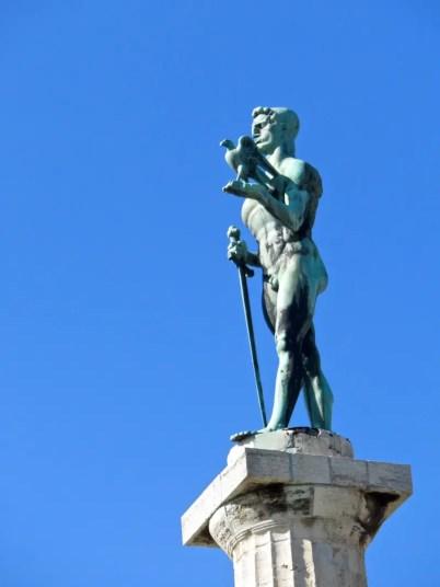 Statue Victor Belgrade