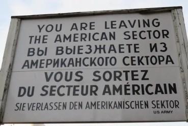 Now leaving American sector Berlin