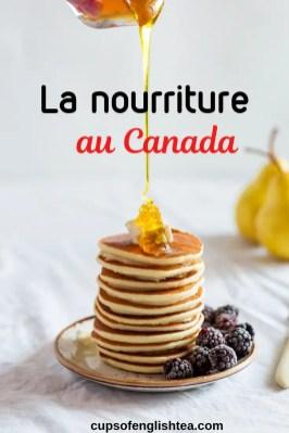 La nourriture Canada