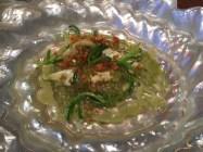 Kokotxa de salmón a la mantequilla de algas