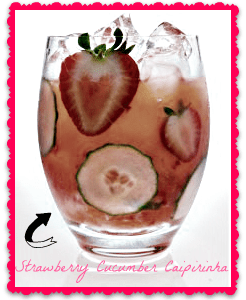 Strawberry Cucumber Caipirinha from Liquor.com