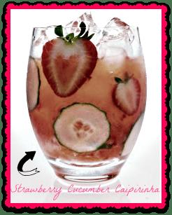 Strawberry Cucumber Caipirinha from Liquor.com