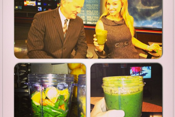 @AlexisDelChiaro and her Green Juice Challenge Picture