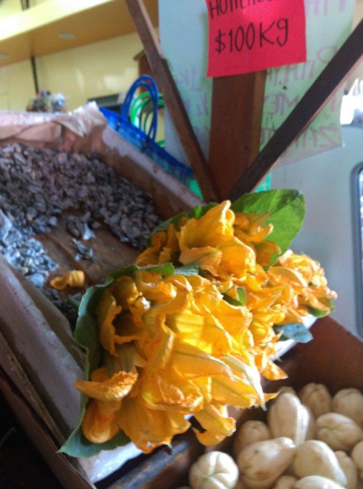 Flor de Calabaza - Squash Blossoms, Mercado Hidalgo in Tijuana