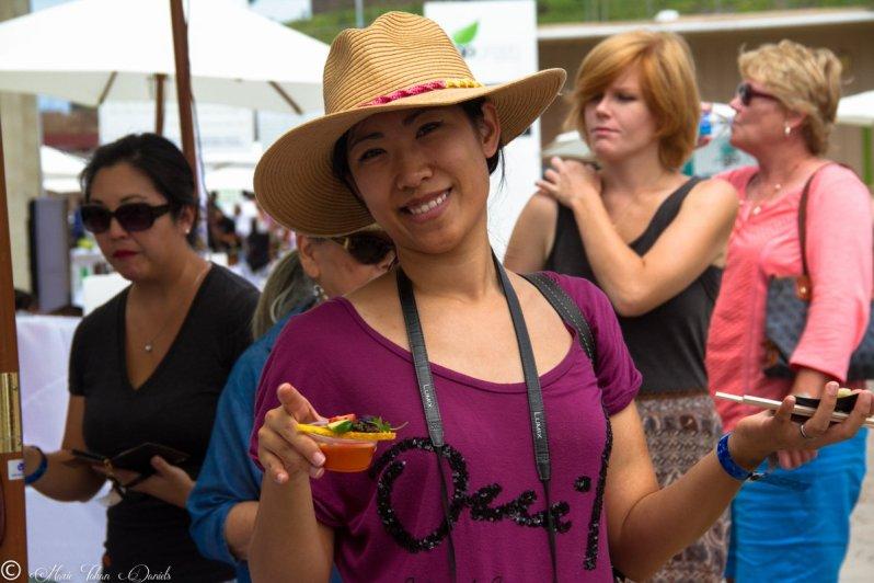 Lynn Le of Oh So Yummy; San Diego Restaurant Week Launch Party 2015, Encinitas CA at Go Green Agriculture