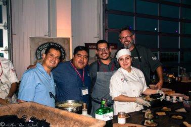 Chefs mario medina, Miguel Valdez, Drew Deckman & Crew
