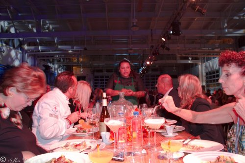 Chef RoseAna Peyron Describes her dish to the judging table
